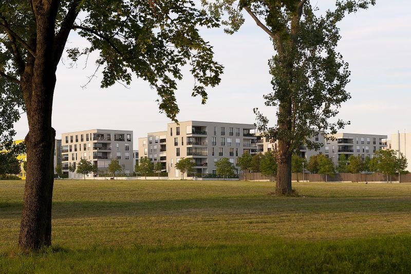 Scharnhauser Park Wohnbebauung Westend (Auszeichnung Beispielhaftes Bauen) Bildquelle: David Franck