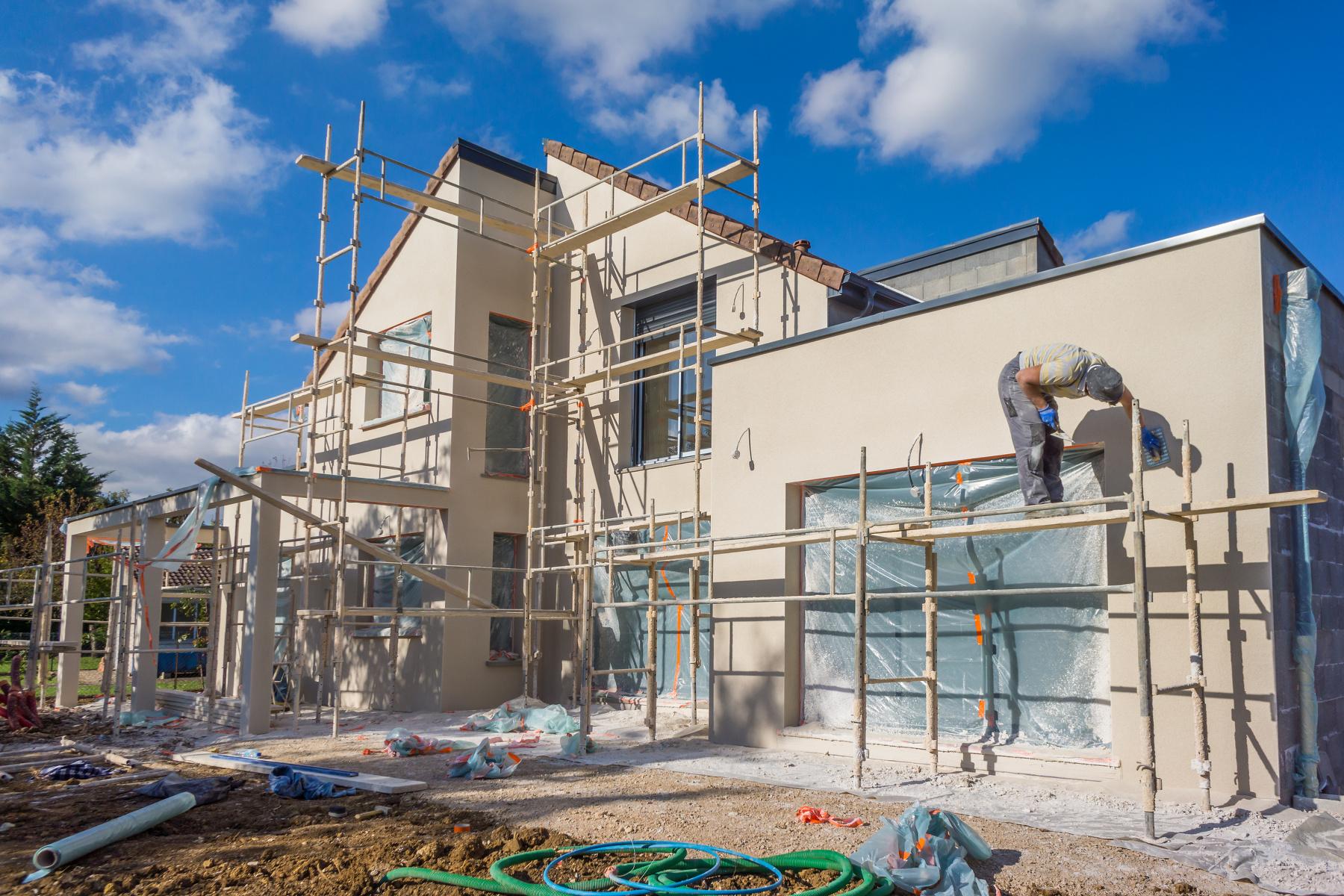 Ein Gebäude entsteht (Foto: Eleonore Horiot, Fotolia)