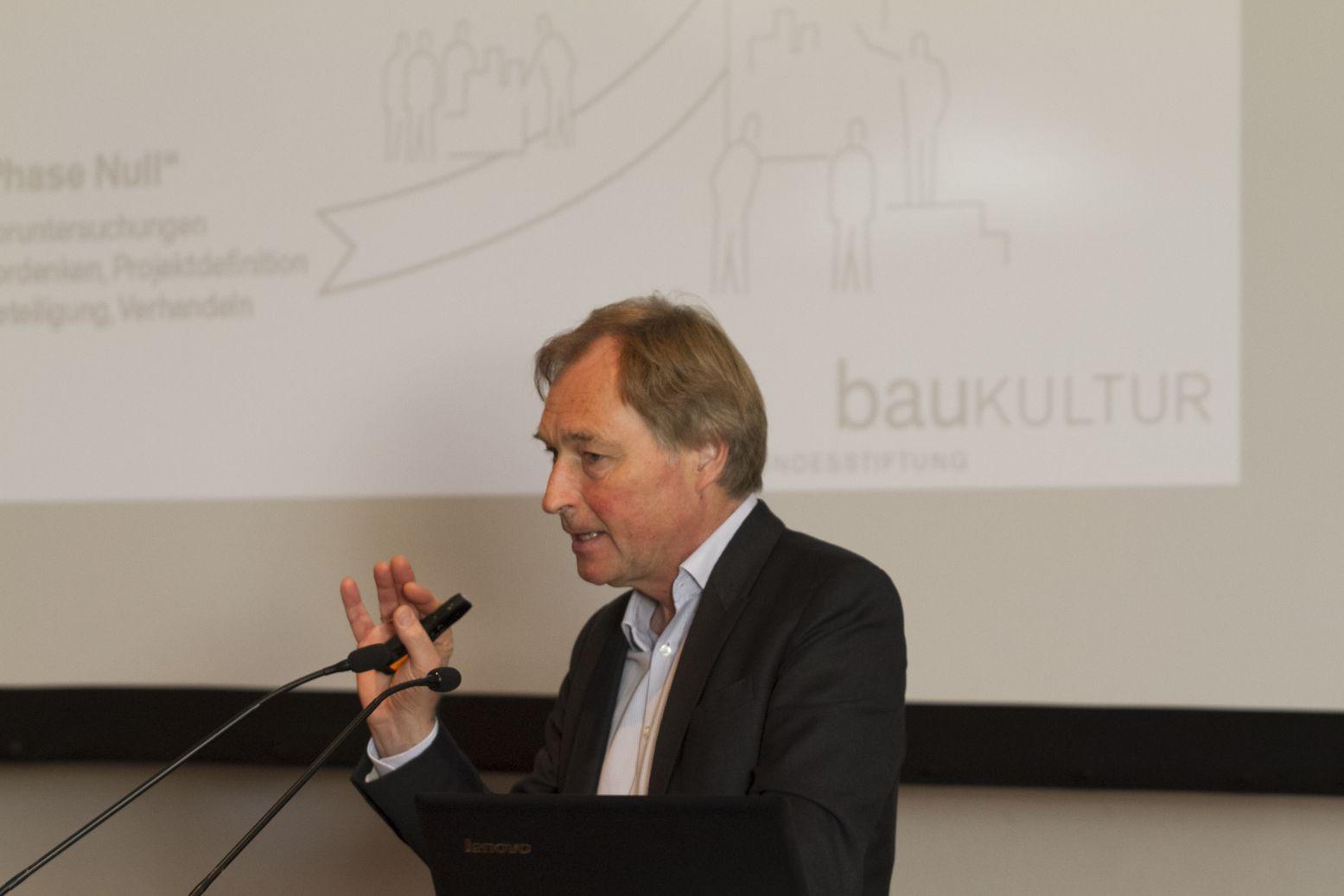 Der Vorstandsvorsitzende der Bundesstiftung Baukultur; Herr Reiner Nagel;  Foto: A. J. Schmidt